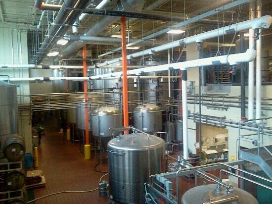 Bell's Comstock Brewery: A view of Bell's production facility