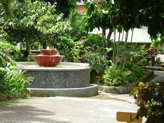 Stonefield Estate Resort: Reception area fountain