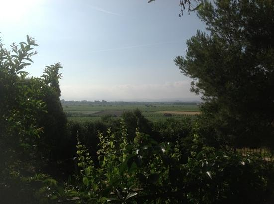 Hostal del Castell de Gimenelles: View from the garden