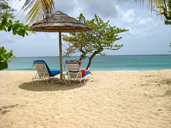 Spice Island Beach Resort: Private chairs right on the beach
