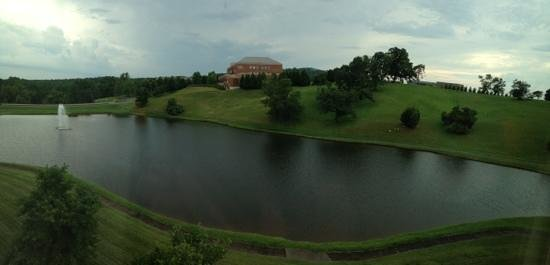 Hilton Garden Inn Charlottesville : pond with Montecello in the distance