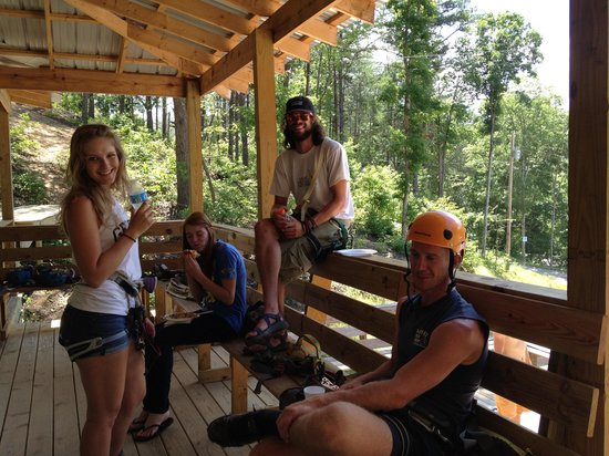 Raft One: Zip Line Crew