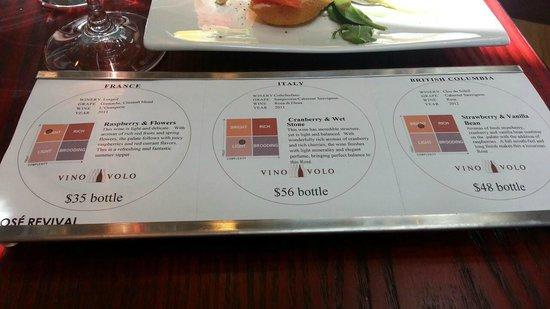 """Vino Volo: Smartest restaurant """"gimmick"""", coaster, souvenier, tasting notes in one"""