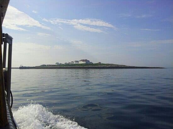 Star Island Family Retreat and Conference Center: On the Uncle Oscar. Star Island in the distance.
