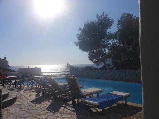 Yperia Hotel: coucher de soleil