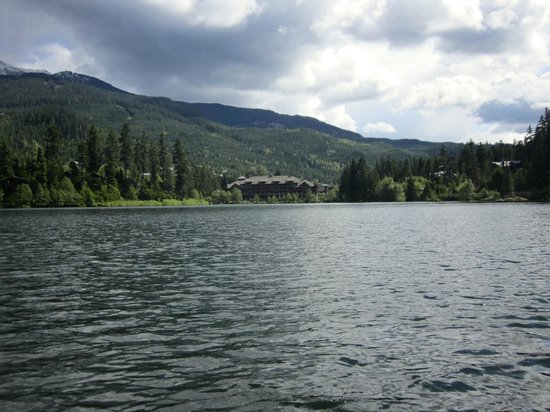 Nita Lake Lodge: From across the lake