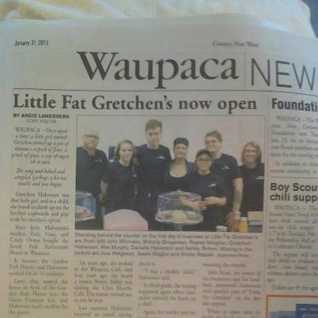 Little Fat Gretchen : The article in the Waupaca County Post