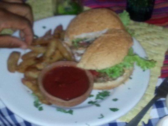 Wiener: Hamburger and fries