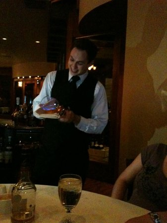 Chama Gaucha Brazilian Steakhouse : Carajillo flame!