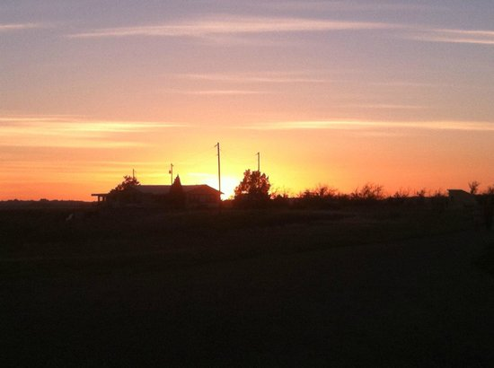 Circle View Guest Ranch: Sunset towards chicken coop
