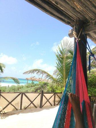 Azucar Hotel: Yo en una hamaca