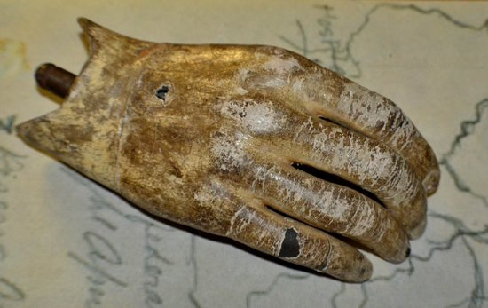South Wood County Historical Museum: Artificial hand from 1865