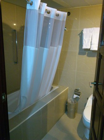Clarion Hotel & Suites Curacao: Dangerous jump to the shower