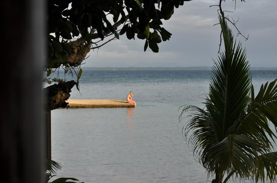 Toberua Island Resort: View of husband from our bure!