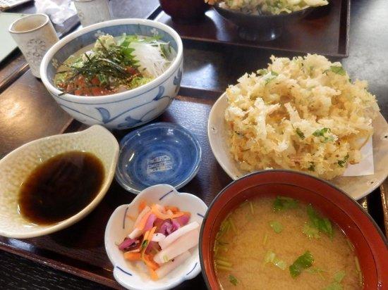 Suruganoajidonmusu: 海鮮丼(天ぷら付き)