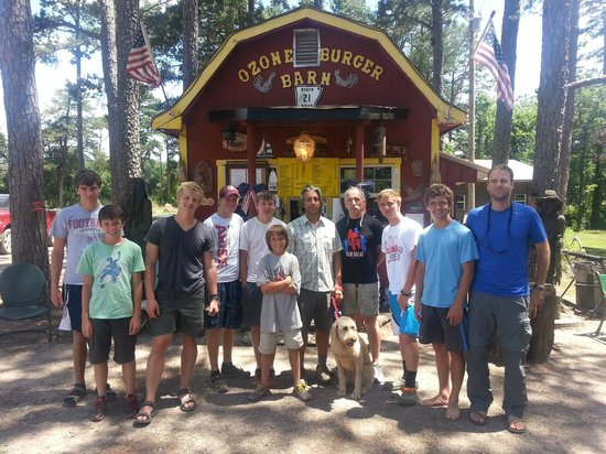 Ozone Burger Barn: Our group of hungry scouts