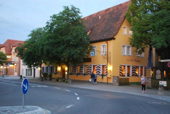 Hotel Rappen Rothenburg ob der Tauber: Great location