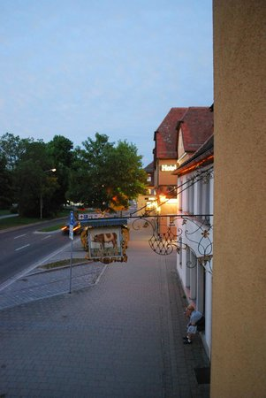 Hotel Rappen Rothenburg ob der Tauber: View from the room