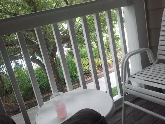 Mainsail Tampa Extended Stay: enjoying the balcony