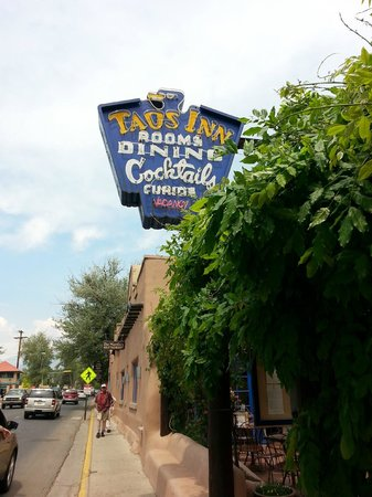The Historic Taos Inn: The inn's iconic sign