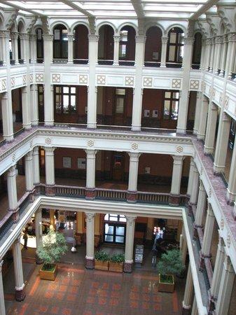 Landmark Center : The Atrium seen from an upper floor.