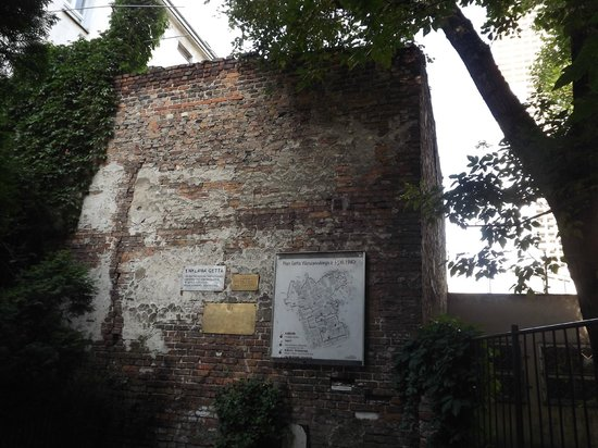 Fragment of Ghetto Wall: The tall part of the wall by the old man's apartment