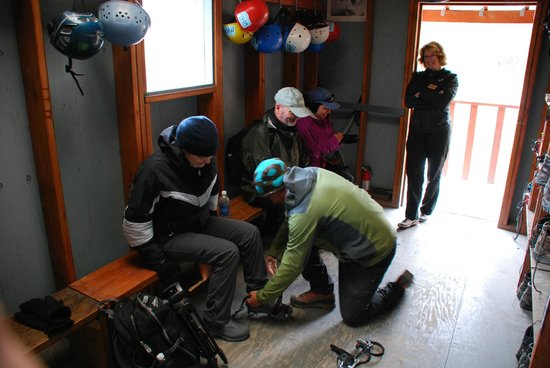 Mica Guides: Getting fitted for Crampons