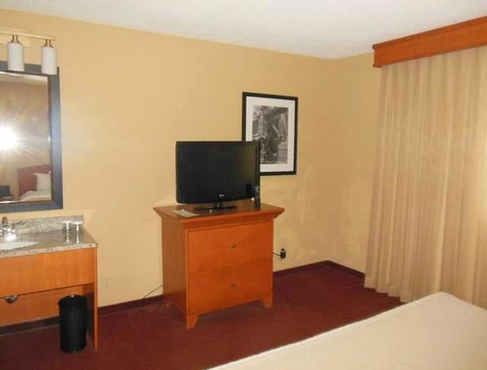 Embassy Suites by Hilton Kansas City-International Airport : Bedroom TV