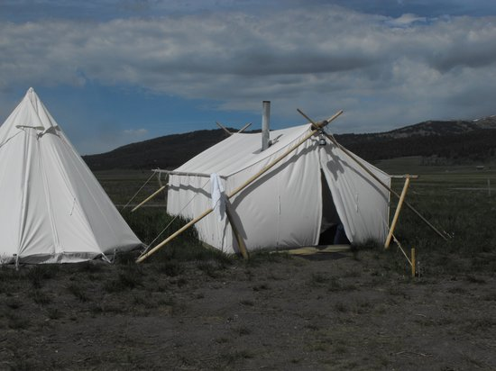 Yellowstone Under Canvas: Typical Safari Tent and a Tipi