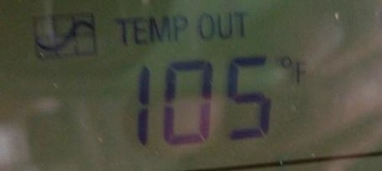Comfort Inn Green River: Outside temperature with no A/C in the hotel room.