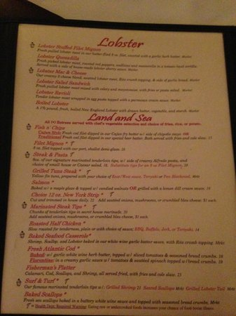 The Gas Lamp Grille: Menu