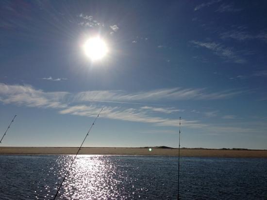 Alva Beach Tourist Park: Alva Beach morning fishing