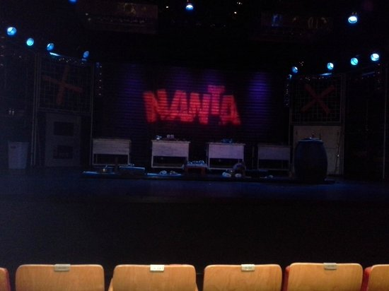 Bangkok NANTA Theatre: view on the stage from the third row