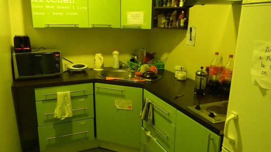 United Backpackers Hostel: cocina