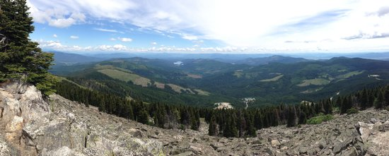 Mount Spokane: View At the Top of Trail 100
