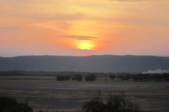 Manyara Wildlife Safari Camp: Sunset from our veranda
