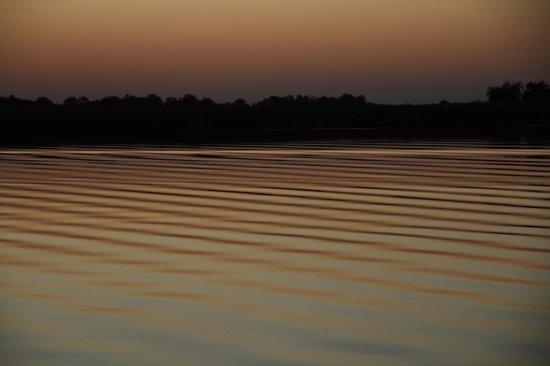 Nguma Island Lodge: Sunset on the Okavango