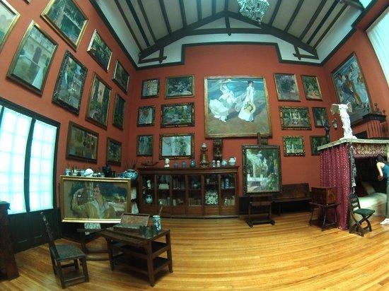 Museo Sorolla: Particola dello studio del pittore.