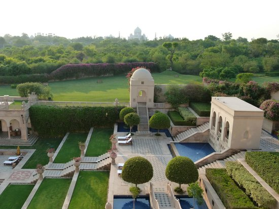 The Oberoi Amarvilas: Another view from the room...Taj Mahal in background