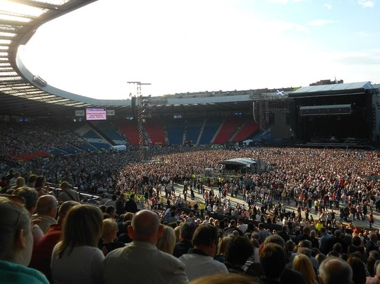 Pre-concert West from South Stand, Hampden Park