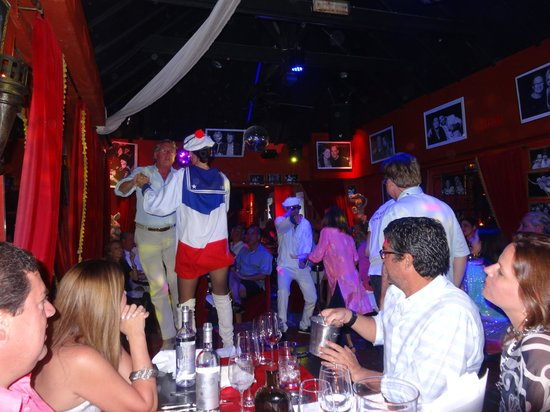 Le Ti St Barth: Dinner time with performance