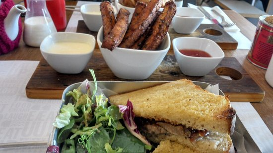 Eat Up: Steak sandwich and polenta chips
