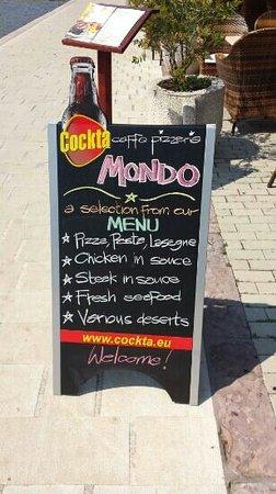 Mondo Restaurant. Kotor.