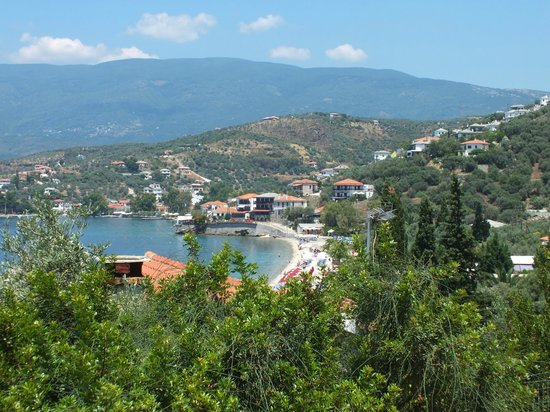 Hotel Katia: View of Afissos, partly hidden, from the South