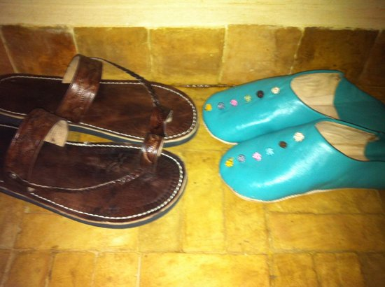 Riad Quara : Our own shoes for the room