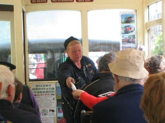 "Whitby Steam Bus: ""Er indoors"" during commentary"