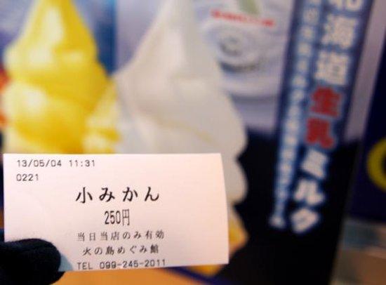 Sakurajima Michi-no-Eki: 桜島小みかんソフトクリームのチケット
