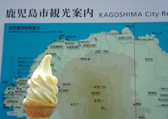 Sakurajima Michi-no-Eki: 桜島小みかんソフトクリーム