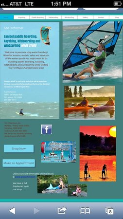 Ace Performer Watersports Rentals: Kayaking -paddle boarding - windsurfing- kiteboarding