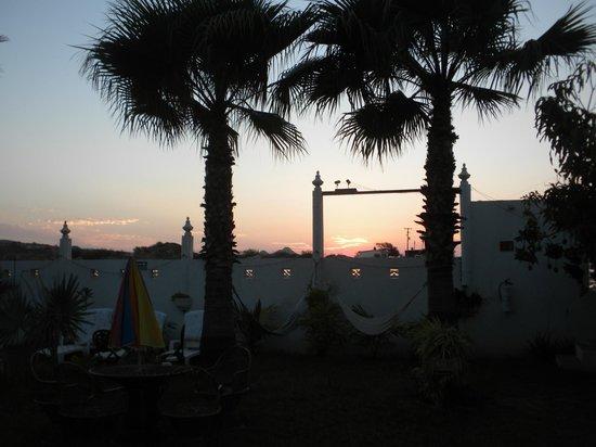 El Delfin Blanco: Courtyard at sunrise